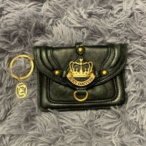 👑Juicy Couture👑 leather keychain wallet